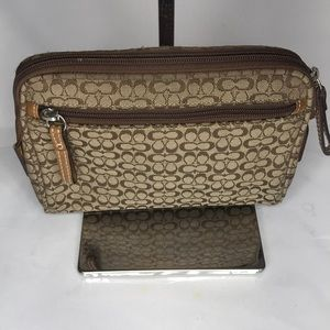 Coach small cosmetics bag